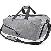b4784f8811 Borsone Palestra Uomo Borsa Sportiva Grande con Scomparto Scarpe Duffel Bag  Borsone da Viaggio Impermeable Borsoni