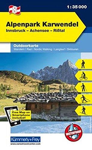 Naturpark Karwendel Outdoorkarte Österreich Nr. 8: 1:35 000, Freemap on Smartphone included (Kümmerly+Frey Outdoorkarten Österreich)
