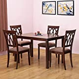 #2: @Home by Nilkamal Peak Four Seater Dining Table Set (Cappucino)