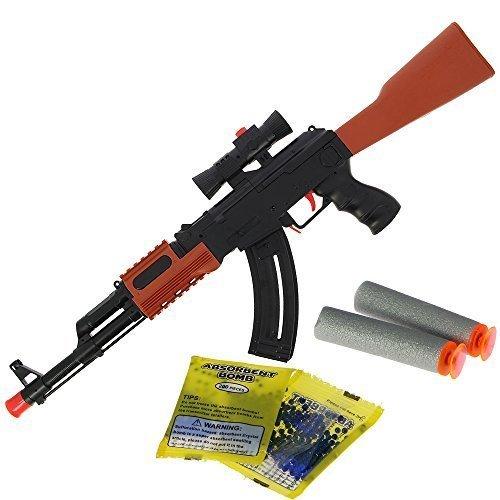 Nuovo per 2017 bimbi bambini 2-in-1 da tiro gel soft water cristallo a proiettile e schiuma freccette gioco ak47 fucile pistole