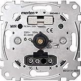 Merten MEG5131-0000 Drehdimmer-Einsatz für ohmsche Last mit Druck-Ausschalter, 40-400 W