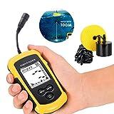 Fishfinder, Sonar Sensor Verdrahtet LCD Tiefe Finder Echolot, Zeigt Tiefe, Wassertemperatur, Fischgröße, Standort Für Kleine Boote See Meer Angeln Fischen