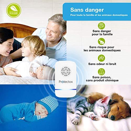 Répulsif Ultrason - Répulsif Souris - Anti Moustique Ultrason - Ultrason Souris - Ultrason Rat - Technologie à Ultrason 2019 efficace contre les rongeurs et les insectes | Marque Française Protectox