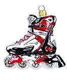 Christbaumschmuck Figuren Sport ( Inline / Skate / Rollschuh 9cm ) Weihnachtskugeln Weihnachtsbaumschmuck Christbaumkugeln Deko Glas
