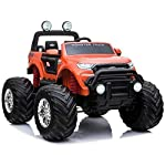 LICENSED FORD RANGER 4WD 24V KIDS MONSTER TRUCK RIDE ON WITH EVA  ORANGE