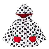 IPBEN Riutilizzabile Poncho Bambina Incappucciati Impermeabile Ragazza Pioggia Giacca con Cappuccio (5 Anni, Mela)