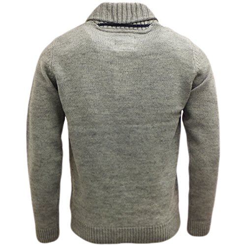 Threadbare Herren Sweater Pullover, Einfarbig Grau - Grau