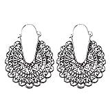 TOOGOO 1 Paar baumeln Ohrringe Ethnische Ohrringe Boho Look Haenger -Altes Silber