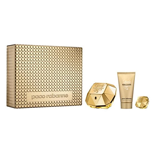 Lady million edp vapo. 50 ml+ body lotion 75 ml+ miniatura 5 ml.