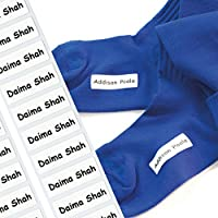 Stretch Tags Iron-on tags are the ultimate nametape for labelling socks and stretchy fabrics - No more lost socks with these name tags! NEW FOR 2018 (Quantity 12)