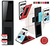 Gionee P5w Hülle Cover Case in Rot Leder - innovative 4 in