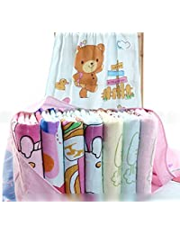 My NewBorn Ultra Soft fleece Baby Bath Towel Wrapper (MN-C3-SoftTowelSet, Multicolour)- Set of 3