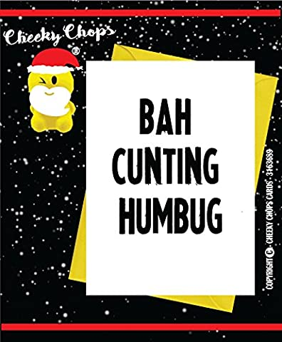 Funny Erwachsene Weihnachten Karte/Rude/Humor/DIRTY/Witty/Offensive/Cheeky – bah-humbug XM25