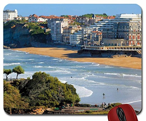 biarritz beach france mouse pad computer mousepad