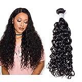 """Mila 10""""-26"""" Extensionses Remy Pelo 100% Natural en Cortina Rizado/Natural Wave Brazilian Virgin Hair Bundles Negro 26inch/65cm"""