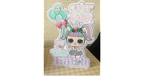 Lol Surprise Doll Birthday Card Amazoncouk Handmade