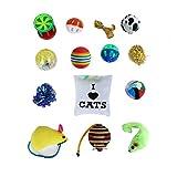 Kayi Pet Cat Toys Set Interactive sortiert Geschenk lustig Kitty Katzen Kleintiere mit Katzenminze-Sisal