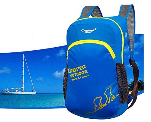Outdoor-klappbare Pack Haut Pack Ultralight Rucksack Rucksack wasserdicht Nylon Männer und Frauen camping Tasche Blue