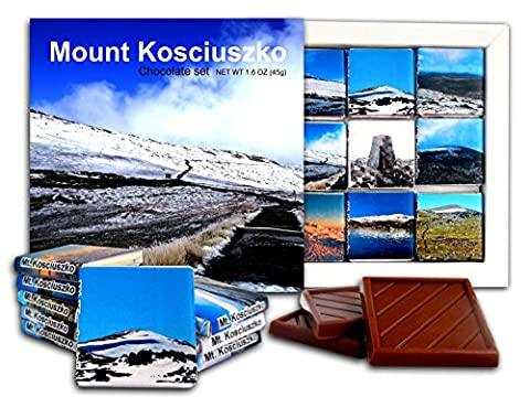 DA CHOCOLATE Candy Souvenir MOUNT KOSCIUSZKO Chocolate Gift Set 5x5in 1 box (Sunny)