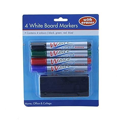 Ardisle Ceinture anti-cellulite 4couleurs de marqueurs tableau blanc pour tableau blanc effaçable à sec pointe (4 Double Wall Tip)