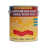 Peinture d'étanchéité, imperméabilisante pour sous-sols, caves, murs enterrés, garages, béton 2.5 litres