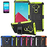 LG HEAVY DUTY STYLISH SHOCKPROOF CASE COVER WITH BACK STAND + FREE UK DELIVERY BY iPro (LG G4, GREEN SHOCKPROOF)
