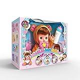 Baobe Simulation Baby Puppe Früherziehung Spielzeug Mädchen Spielhaus Puppe Set mit Zubehör 4 Stück mit Musik Geschenk für Kinder Intelligenter Bär (braun)