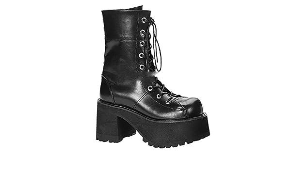 Demonia Swing-815 - Gothic Industrial Punk Mega Plateau Stiefel Schuhe 36-43, Größe:EU-41/42/US-11/UK-8