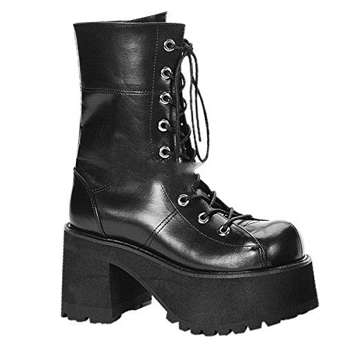 Demonia Ranger-301 - Gothic Industrial Unisex Plateau Stiefel Schuhe 36-43, Größe:EU-40/41 / US-10 / UK-7