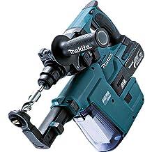 Makita - Martillo inalámbrico para Sds Plus (18 V, 5,0 Ah, en estuche Makpac, incluye 2 baterías, cargador y aspirador de polvo DX02, DHR243RTJV)