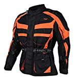 Bangla Kinder Motorradjacke Tourenjacke Textil 1152 Schwarz orange 164
