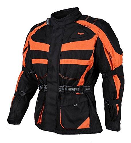 Bangla Kinder Motorradjacke Tourenjacke Textil 1152 Schwarz orange 164