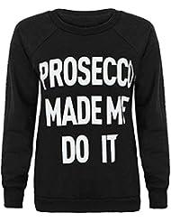 Fast Fashion – Sweatshirt Encolure Ras Du Cou Style Prosecco Assorties Slogans Imprimé - Femmes