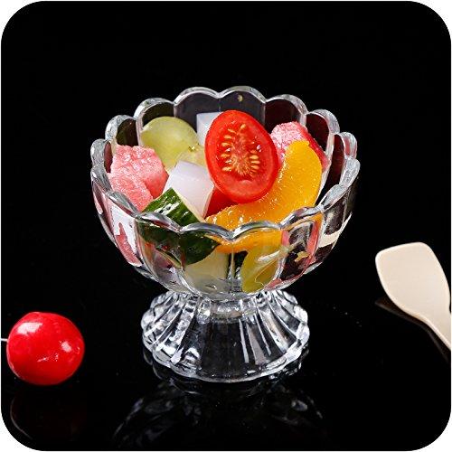 Transparent bleifreies Glas Dessert Salat Ice Cream Cup Verdickte