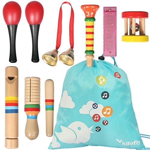 KF Baby kilofly Kids Mini Band Musikinstrumente Rhythmus Spielzeug, 8 Stück (Musikinstrumente Mini Spielzeug)