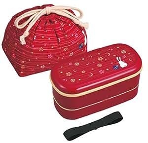 Lunch box Mese fiore in due fasi sacchetto della borsa pranzo con (in rosso) PW-4 + KB-1 (japan import)