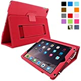 Étui iPad Air 2, Snugg™ - Housse de Protection en Cuir Rouge, Style Smart Case Avec Garantie à Vie Pour Apple iPad Air 2