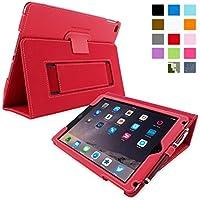 Snugg iPad Air 2 Caso (Rosso), Copertina in Ecopelle Intelligenti, Rivestimento Interno di Qualità in (Cinghia Web Vita)