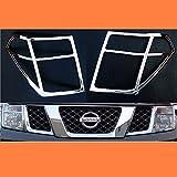 Nissan Navara D402005–10cromo lámpara frontal cabeza luz cubiertas Recorta Surround Kit