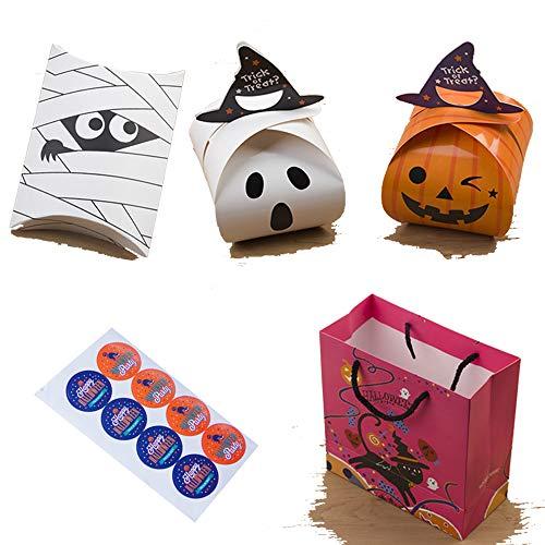 Hausgemachte Halloween Behandeln Tasche - BENPAO 120PCS 3D Halloween Karton Süßes