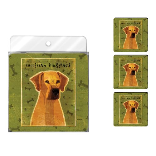 tree-free-greetings-nc38045-john-w-golden-4-pack-artful-coaster-set-rhodesian-ridgeback