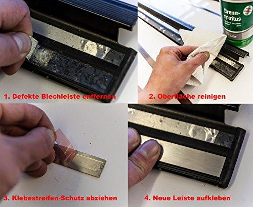 Preisvergleich Produktbild Reparatursatz: Inlays Edelstahl Einstiegsleisten für W124,  S124
