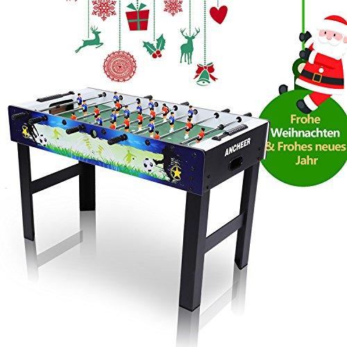 Ancheer Kickertische, Tischkicker für Party und Spielzimmer, Tischfußball, Freizeit Fußball Sport - 1.21 x 0.61 x 0.79 M( L x W x H ), 24 KG