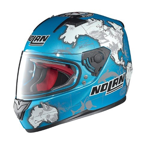 Nolan X-Lite – Casco Nolan integral N64 Gemini Réplica Checa de color azul New Graphics 49. XL turquesa