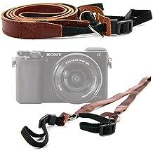 DURAGADGET Correa de cuero para cámara Sony A6000 , a6300 , a68 , a7R II ILCE-7RM2 , A7s II , a99 , II A99 - Color marrón.