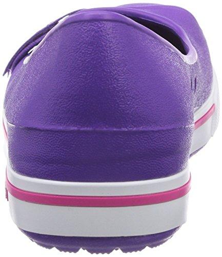 Crocs Cbnd2.5Flat Damen Ballerinas Pink (Neon Purple/Candy Pink)