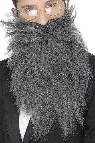 Langer Bart und Schnurrbart Grau, One (Lange Schnurrbart Kostüm)