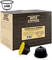 Note d'Espresso Ginger Infusion Capsules Exclusively Compatible with Nescafé* and Dolce Gusto* capsule machines 2.5g x 48 Ca