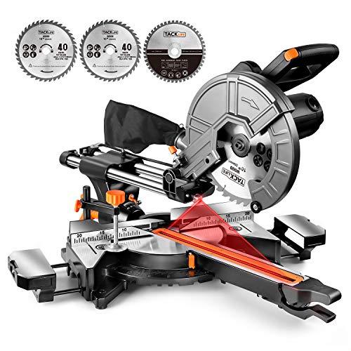 TACKLIFE Troncatrice Radiale Compatta, Doppia Velocità, 3200/4500 rpm, 2000W, 40 T e...
