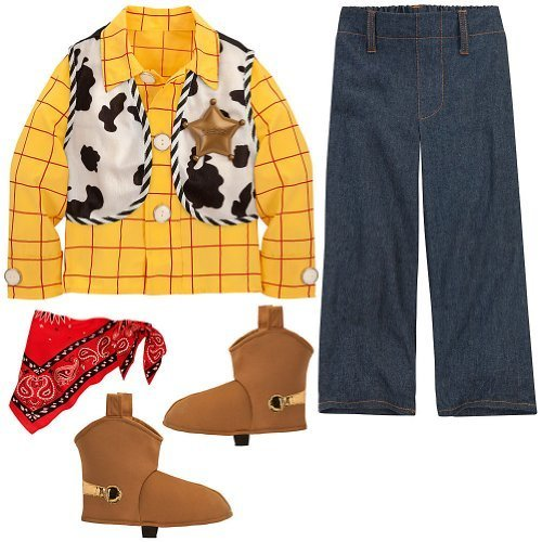 Disney Store Woody Halloween Costume Size XS 4-4T Toy Story Sheriff Outfit by Disney
